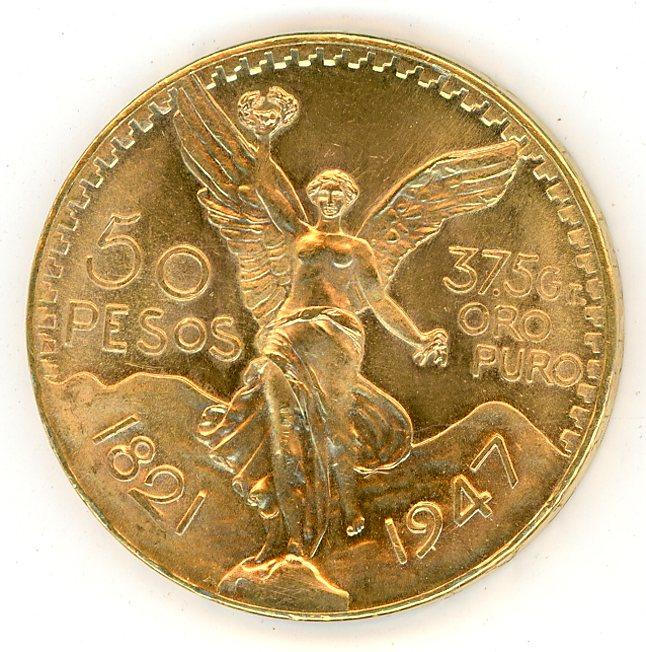 Thumbnail for 1947 Mexico 50 Pesos
