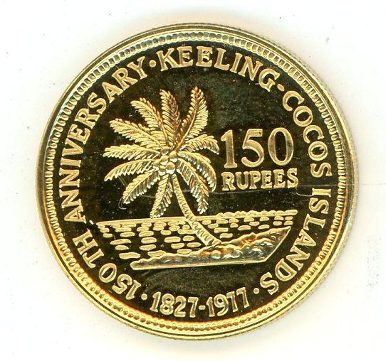 Thumbnail for 1977 Keeling-Cocos Islands Gold 150 Rupees