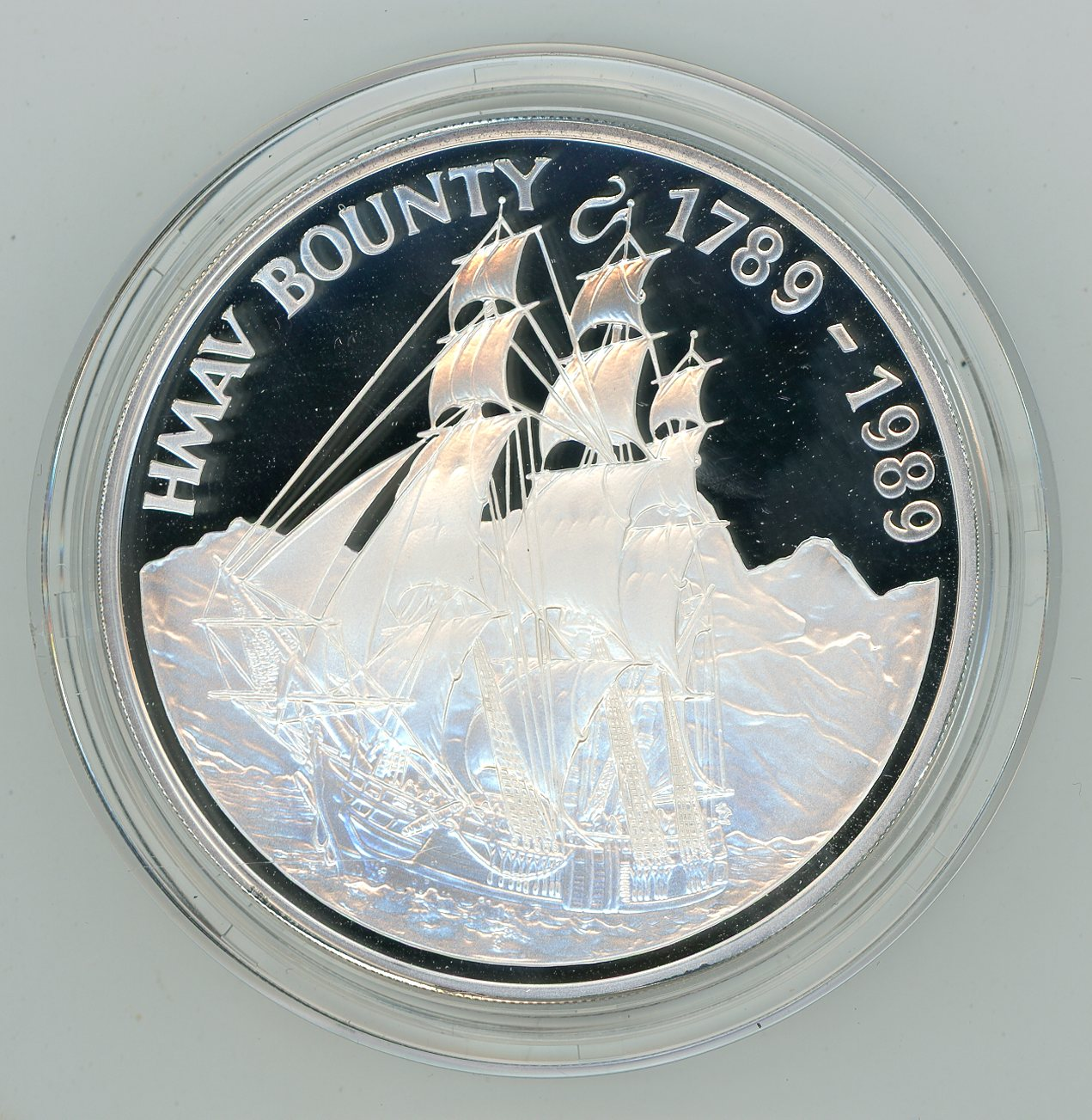 Thumbnail for 1989 5oz Pitcairn Islands $50 Silver Proof .999 Coin