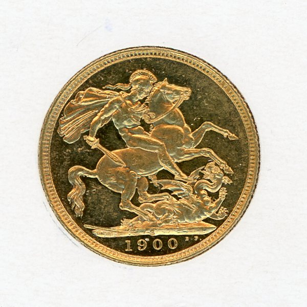 Thumbnail for 1900S Gold Sovereign aUNC