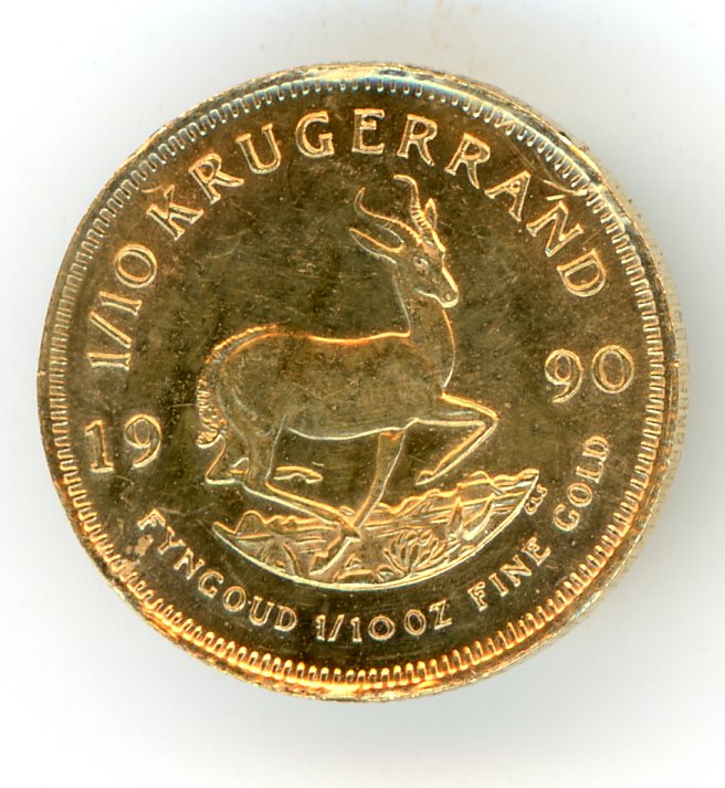 Thumbnail for 1990 South Africa One Tenth oz Gold Krugerrand
