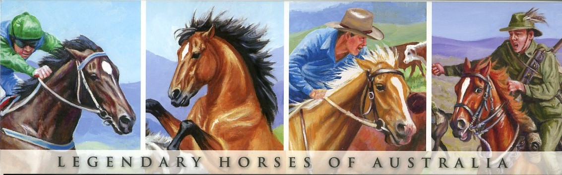 Thumbnail for 2014 Niue Set of 4 Coloured Silver Proofs - Legendary Horses of Australia
