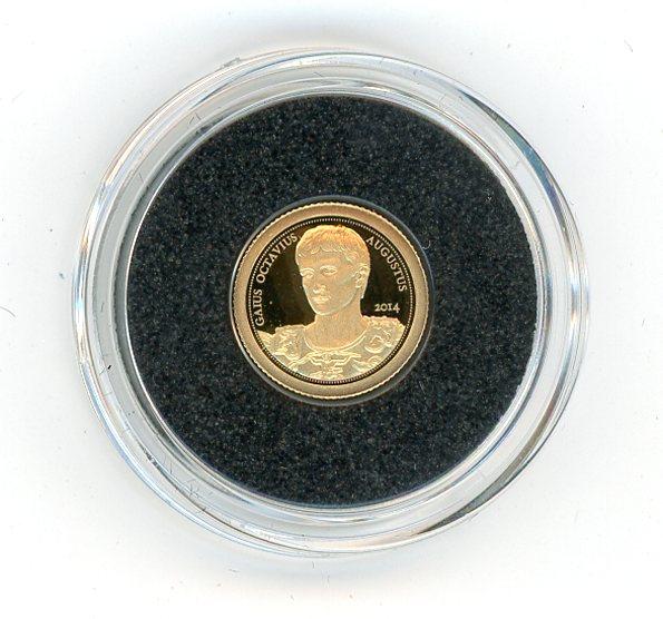 Thumbnail for 2014 Samoa .05 Gram .585 Gold One Dollar - Augustus