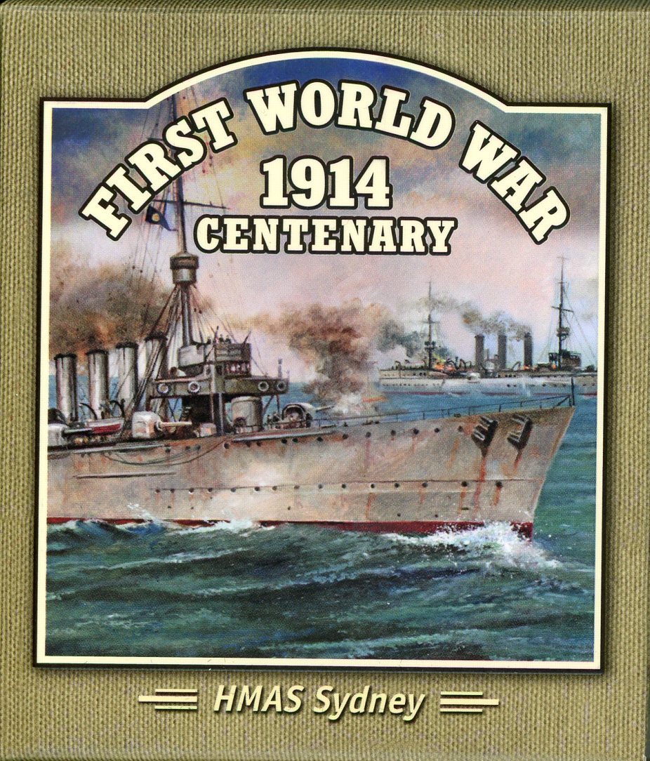 Thumbnail for 2014 Solomon Islands Coloured Silver Proof - First World War HMAS Sydney