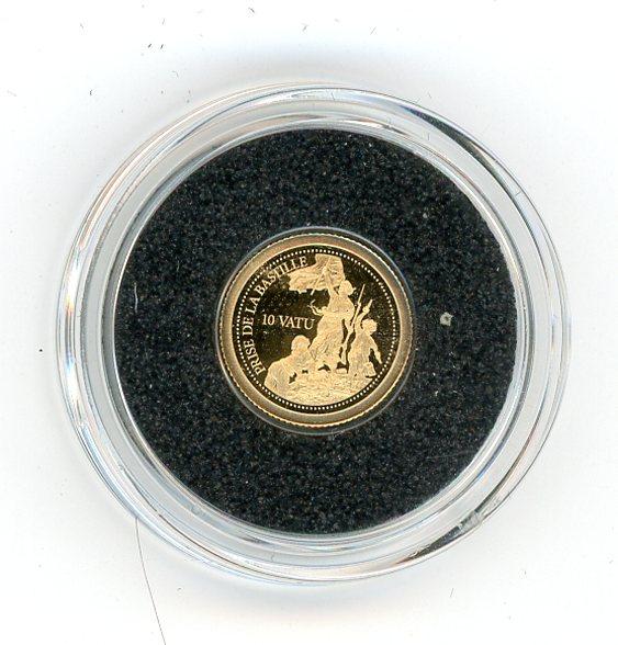 Thumbnail for 2014 Vanuatu .05 Gram .585 Gold 10 Vatu - Storming of the Bastille