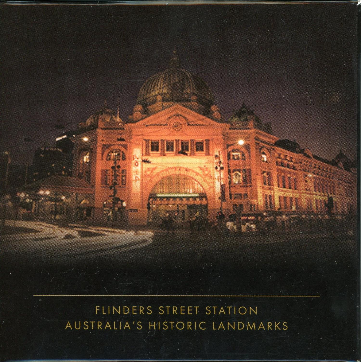 Thumbnail for 2015 Cook Islands 2oz Silver Antiqued Proof Coin - Flinders Street Station
