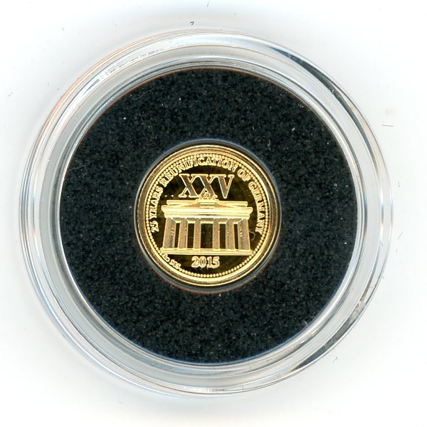 Thumbnail for 2015 Samoa .05 Gram .585 Gold One Dollar - 25 Years of Reunification Germany