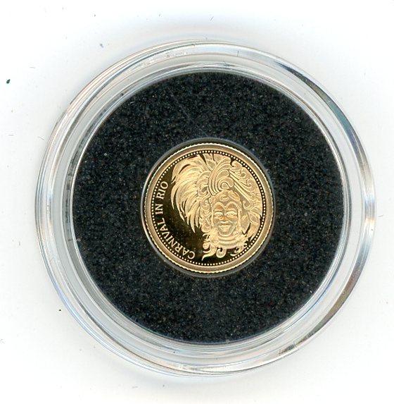 Thumbnail for 2015 Samoa .05 Gram .585 Gold One Dollar - Carnival In Rio