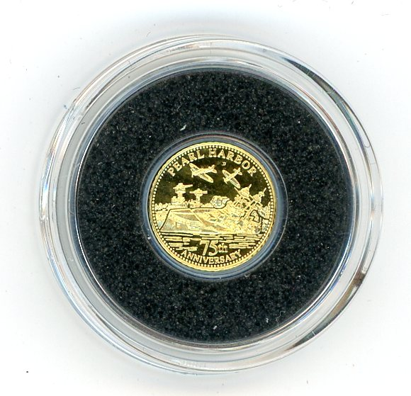 Thumbnail for 2016 Samoa .05 Gram .585 Gold One Dollar - 75th Anniversary of Pearl Harbour