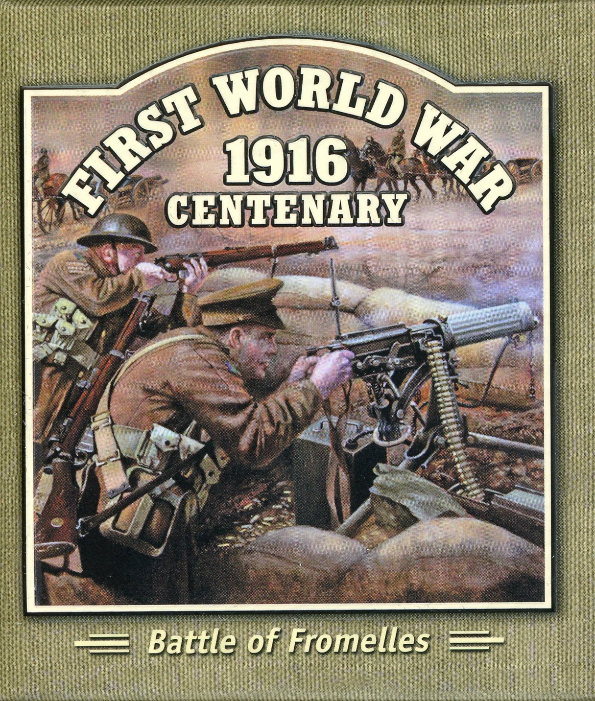 Thumbnail for 2016 Solomon Islands Coloured Silver Proof - First World War Battle of Fromelles