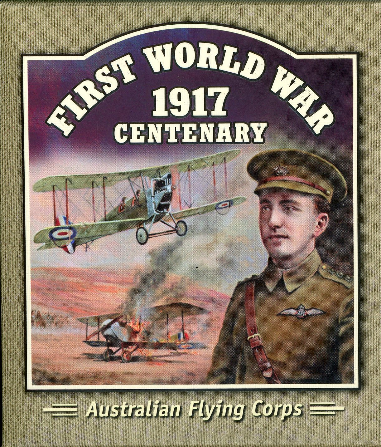 Thumbnail for 2017 Solomon Islands Coloured Silver Proof - First World War Australian Flying Corps