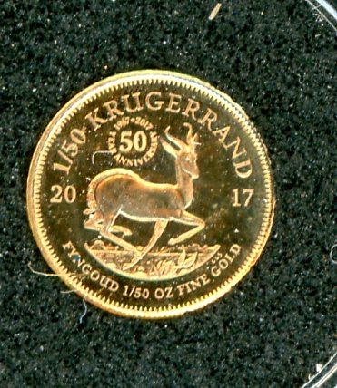 Thumbnail for 2017 South Africa One Fiftieth oz Proof Gold Krugerrand