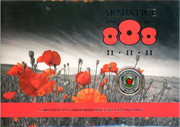 Thumbnail for 2018 New Zealand 50 Cent Armistice Day Commemorative Coin