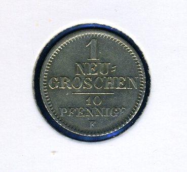 Thumbnail for 1848 F Saxony 10 Pfennig - 1 Neu Groschen