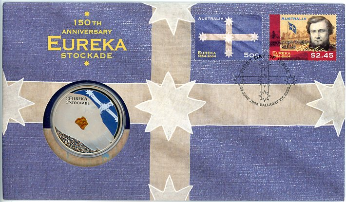 Thumbnail for 2004 150th Anniversary Eureka Stockade with $5 Coin
