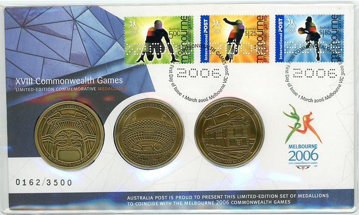 Thumbnail for 2006 Commonwealth Games Medallic PNC