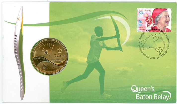 Thumbnail for 2006 Queens Baton Relay with $5 Coin