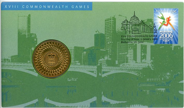 Thumbnail for 2006 XVIII Commonwealth Games Melbourne with $5 Coin