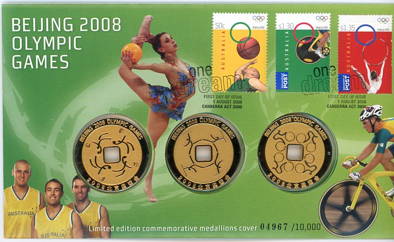 Thumbnail for 2008 Beijing 2008 Olympic Games Medals PNC