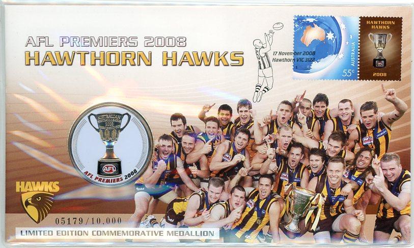 Thumbnail for 2008 Hawthorn Hawks AFL Premiers Medallic PNC