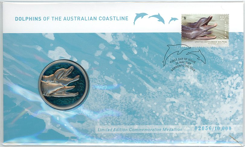 Thumbnail for 2009 Dolphins of the Australian Coastline Medallic PNC