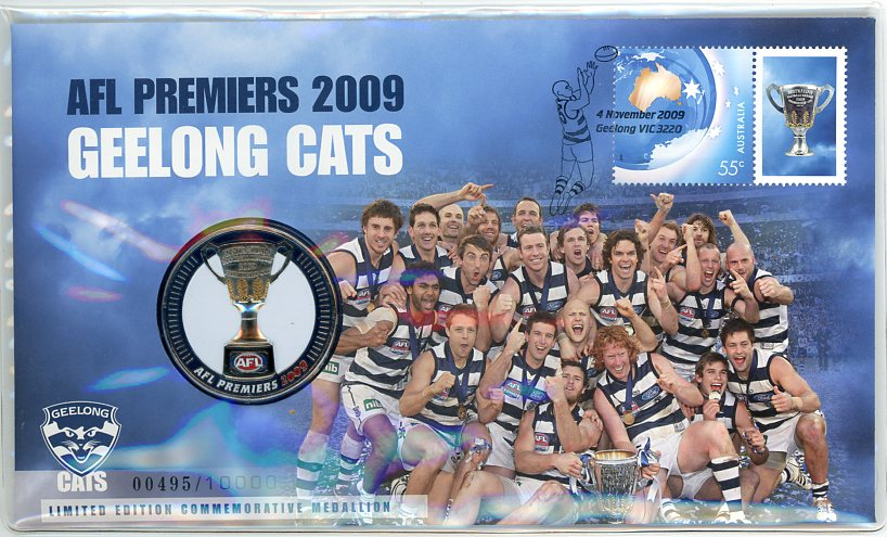 Thumbnail for 2009 Geelong Cats AFL Premiers Medallic PNC
