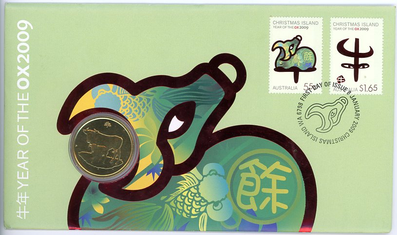 Thumbnail for 2009  Year of the Ox One Dollar PNC Issue 1