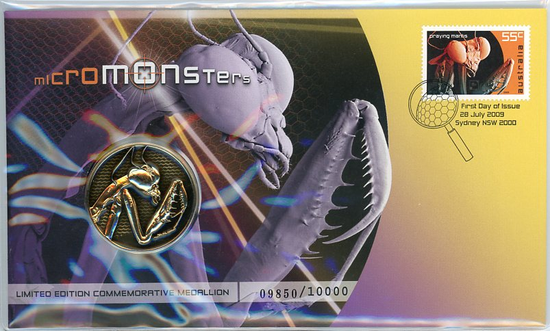 Thumbnail for 2009 Micro Monsters Praying Mantis Medallic PNC