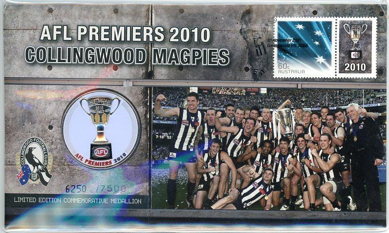 Thumbnail for 2010 AFL Premiers Medallic PNC - Collingwood