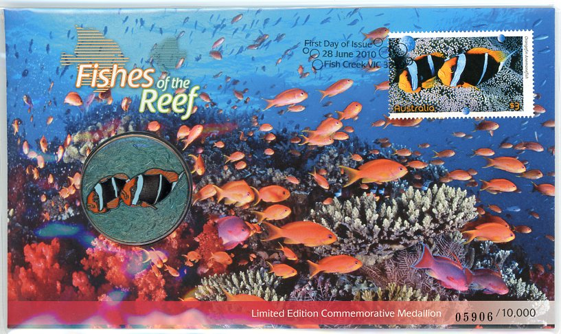 Thumbnail for 2010 Fishes of the Reef Limited Edition Medallic PNC