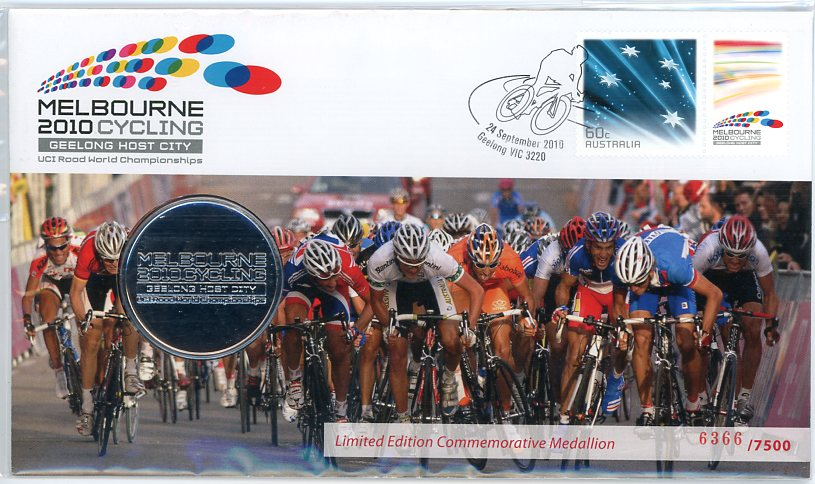 Thumbnail for 2010 Melbourne Cycling Geelong Host City Medallic PNC