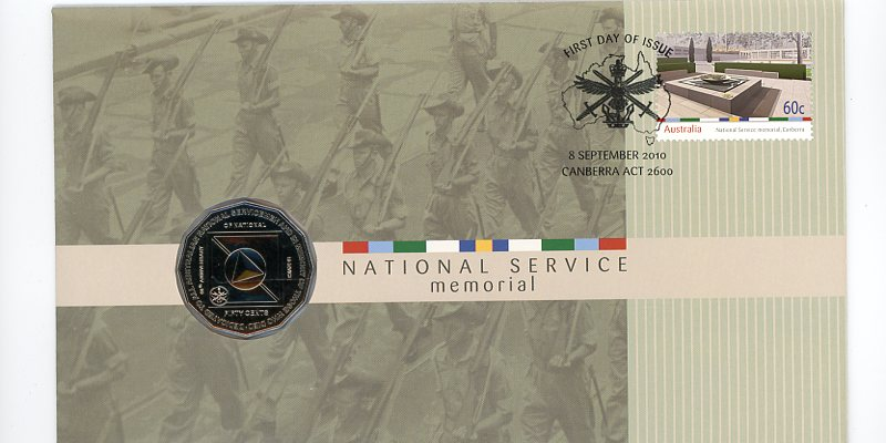 Thumbnail for 2010 Issue 10 National Service Memorial