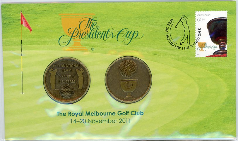 Thumbnail for 2011 Presidents Cup Royal Melbourne Golf Club Medallic PNC