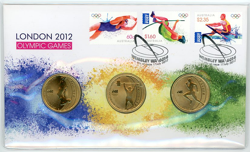Thumbnail for 2012 Issue 08 - London Olympic Games  3 Coin PNC