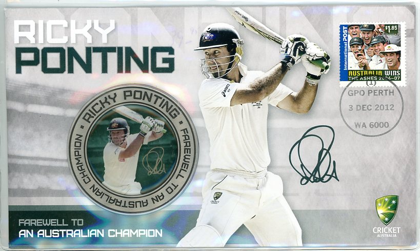 Thumbnail for 2012 Ricky Ponting Medallic PNC