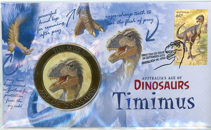 Thumbnail for 2013 Australia's Age Of Dinosaurs Medallic PNC - Timimus
