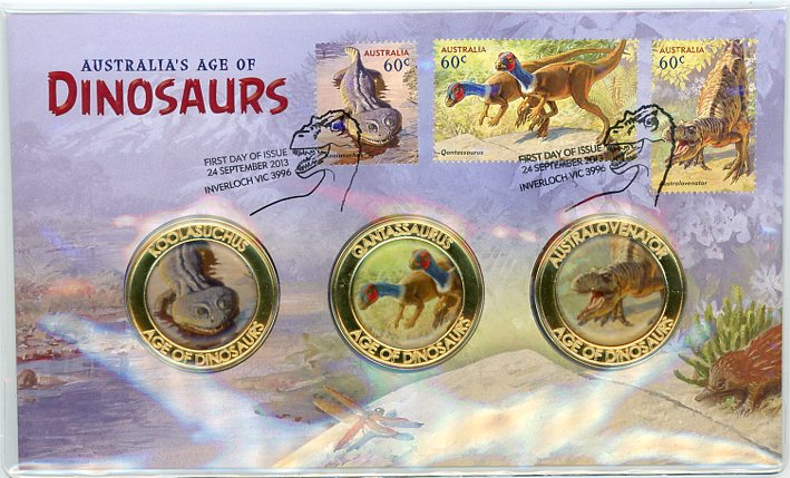Thumbnail for 2013 Australia's Age of Dinosaurs Medallic PNC