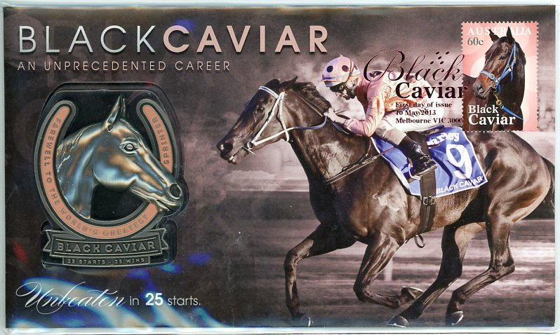 Thumbnail for 2013 Black Caviar Unprecedented Career Medallic PNC