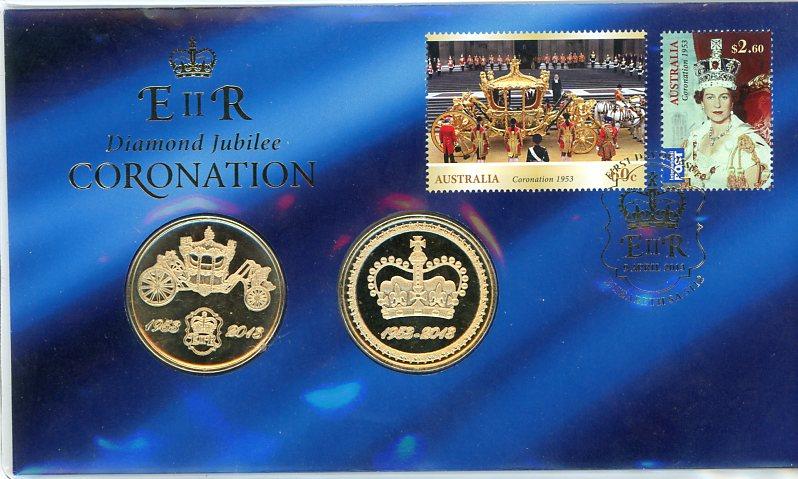 Thumbnail for 2013 Diamond Jubilee Coronation Medallic PNC