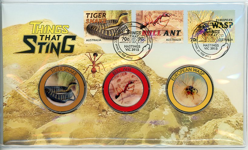 Thumbnail for 2014 Issue 23 Things That Sting - Tiger Snake, Bull Ant & European Wasp