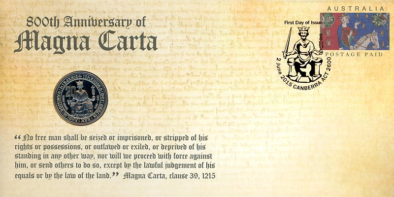 Thumbnail for 2015 Issue 10 800th Anniversary of the Magna Carta