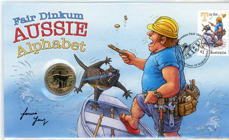 Thumbnail for 2016 Fair Dinkum Aussie Alphabet PNC - T is for Tarquin the Tradie