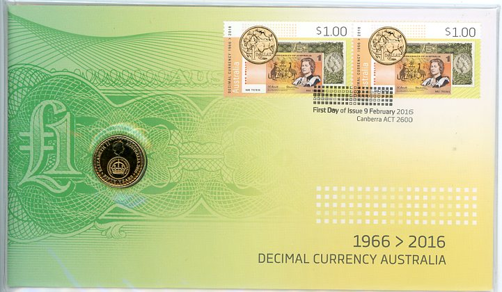 Thumbnail for 2016 Issue 05 Decimal Currency Australia 1966-2016