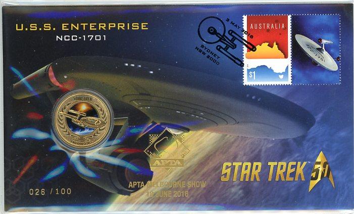 Thumbnail for 2016 Issue 13 Star Trek USS Enterprise - APTA Show Overprint