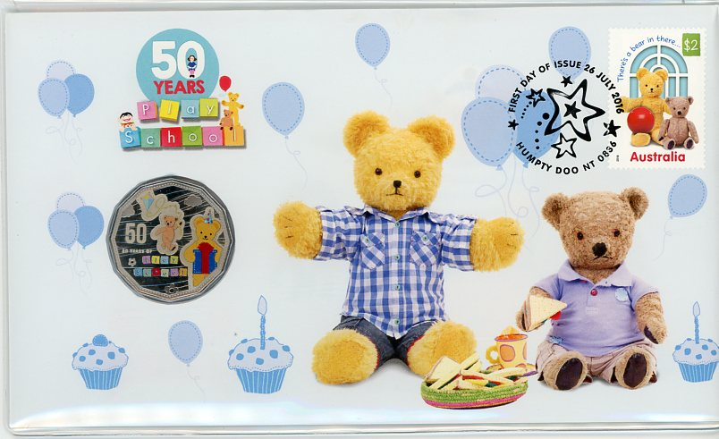 Thumbnail for 2016 Issue 16 Fifty Years of Play School - Big Ted & Little Ted PNC