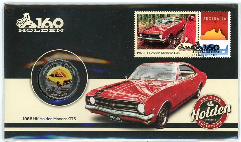Thumbnail for 2016 Issue 19 1968 HK Holden Monaro GST 50c PNC