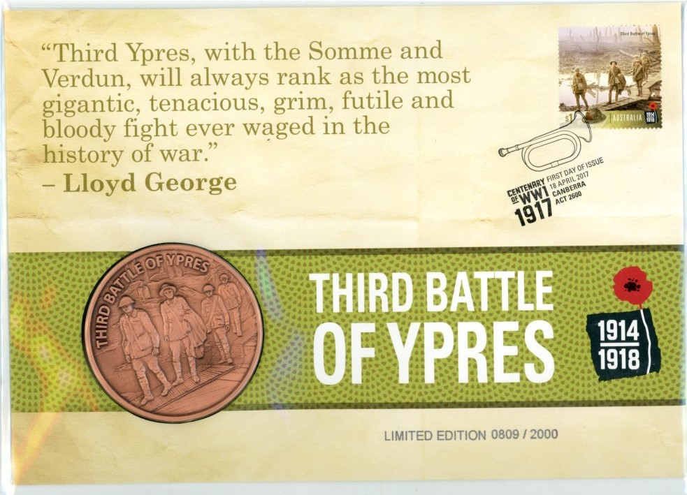 Thumbnail for 2017 Centenary of WWI - Third Battle of Ypres PNC