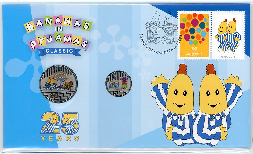 Thumbnail for 2017 Issue 14 Fifty Years - Bananas In Pyjamas PNC