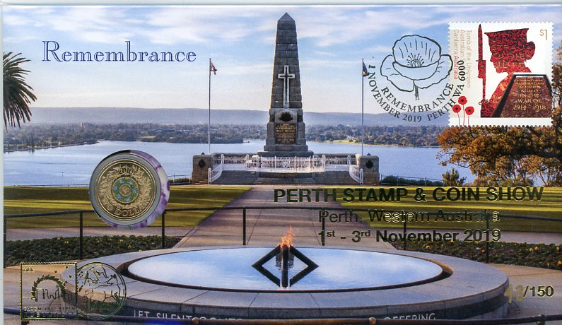 Thumbnail for 2019 National Police  Remembrance $2 PNC - Perth Stamp & Coin Show 1st-3rd November 2019