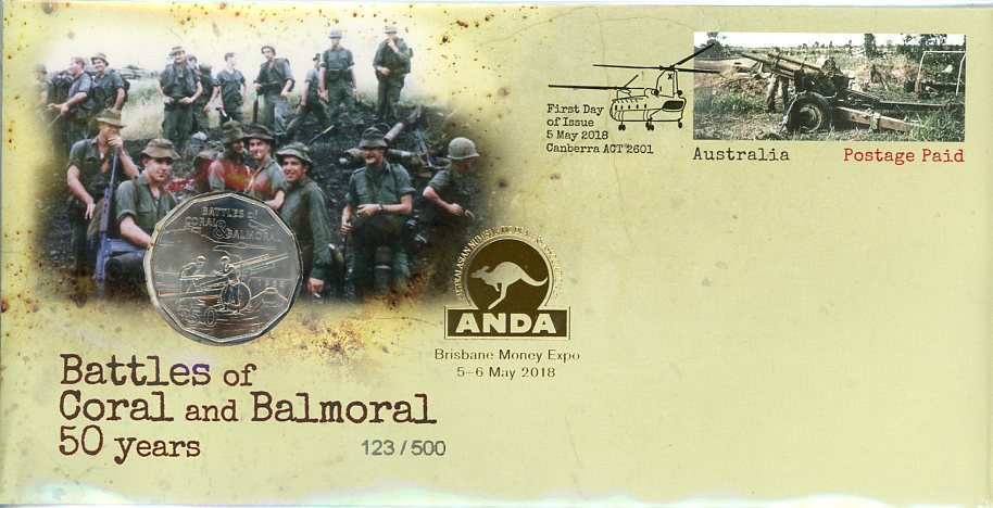 Thumbnail for 2018 Battles of Coral & Balmoral 50 Years ANDA Issue